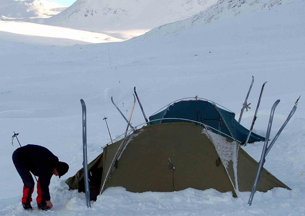 Camp During Winter Season